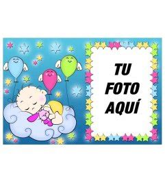 imagenes para amigas recien conocidas marco para fotos con dibujo de un reci 233 n nacido abrazado a