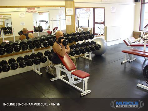 bench and incline same day incline bench hammer curl video exercise guide tips