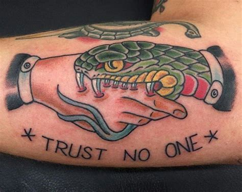 trust no one tattoo 26 new trust no one tattoos ideas theaskidea