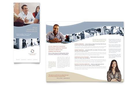 marketing consulting template marketing consulting brochure template design