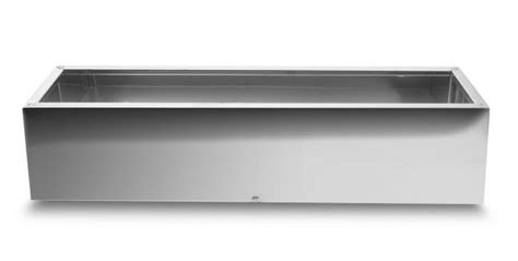 Steel Trough Planter by Trough Mirrored Stainless Steel Planter 100cm X 30cm 163 209 99