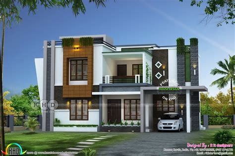 contemporary home plans with photos 2352 sq ft awesome contemporary kerala home design kerala home design and floor plans
