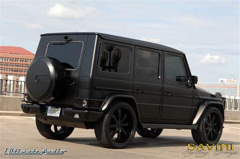 mercedes g wagon matte black matte black mercedes g wagon on savini sv 28s wheels