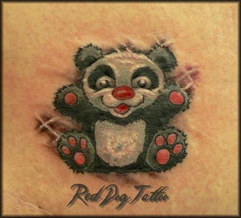 panda elephant tattoo cute baby panda tattoo by reddogtattoo