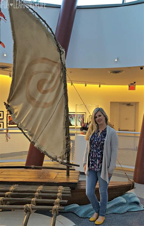moana boat replica my visit to disney animation and learning how moana was