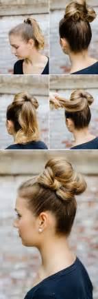 hair tutorials for medium hair easy bun hairstyles for long hair