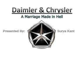 Chrysler Merger With Daimler Daimler Chrysler Merger