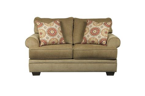 beige sofa and loveseat ashley sevan sand 9680235 beige fabric loveseat steal a