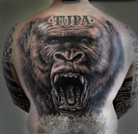 gorilla tattoo on chest 15 cool gorilla tattoo designs images and ideas