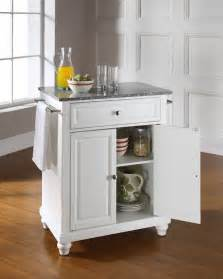 Kitchen Island Portable Crosley Furniture Cambridge Solid Granite Top Portable