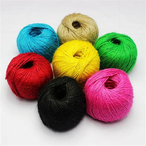 colored jute twine colored jute twine 700m 2ply decorative handmade