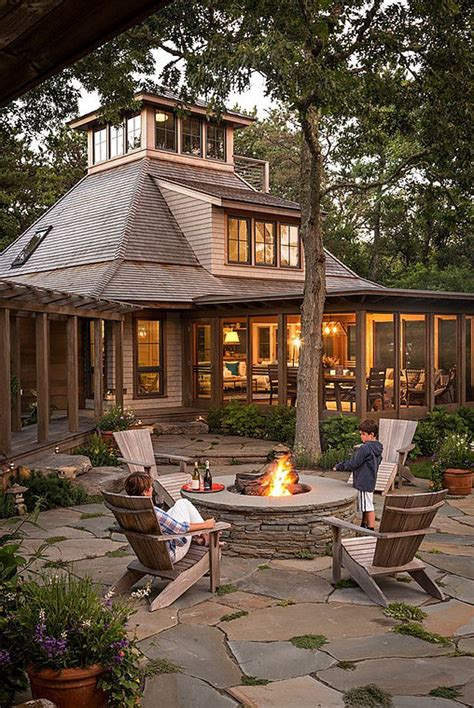 backyard with firepit firepit woodsy backyard with firepit and