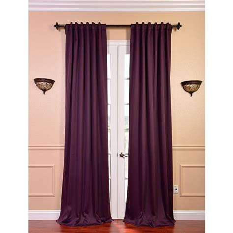 overstock thermal curtains blackout thermal aubergine curtain panels set of 2