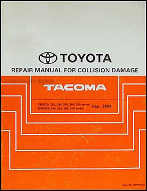 2005 Toyota Tacoma Repair Manual 2005 2009 Toyota Tacoma Repair Shop Manual Original