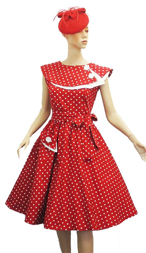 polka dot swing dress 1950s new rosa rosa vtg 1950s retro polka dot rockabilly party