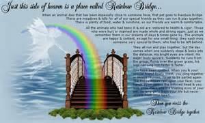 Rainbow bridge poem printable 5x7 dog breeds picture