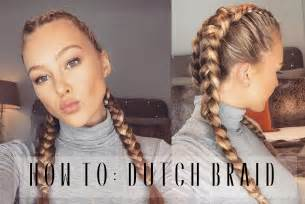 ways to braid your hair for a sew in how to dutch braid your own hair hollie hobin youtube