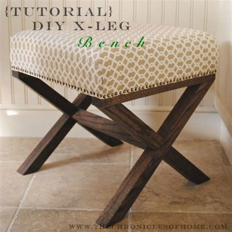 diy bench legs craft tutorials galore at crafter holic diy upholstered