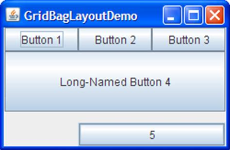gridbaglayout exles how to use gridbaglayout the java tutorials gt creating a