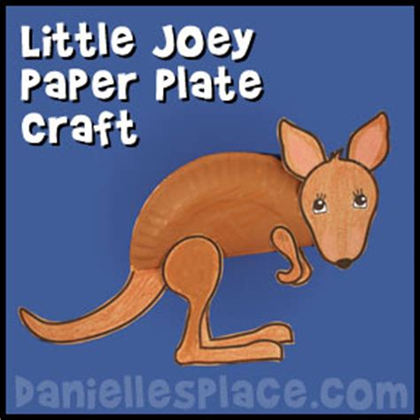 Kangaroo Paper Plate Craft - pin kangaroo masks for on