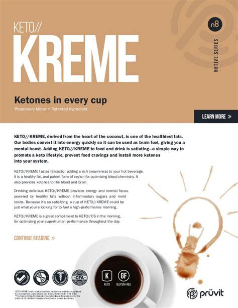 Keto Kreme Product Sheet   Pruvit