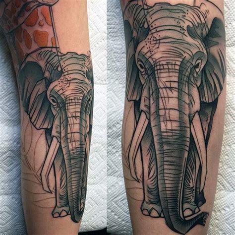 elephant tattoo for men 100 elephant designs for think big