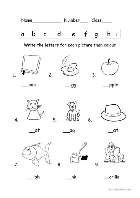 phonics worksheet english esl worksheets