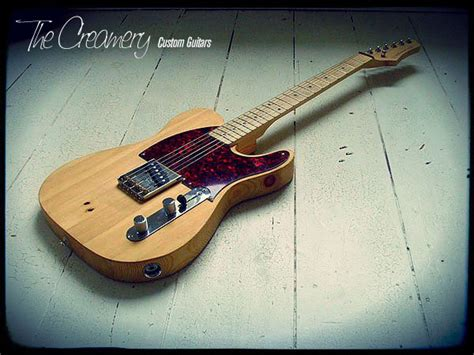 Handmade Guitars Uk - introducing the pine fencepost esquire guitar