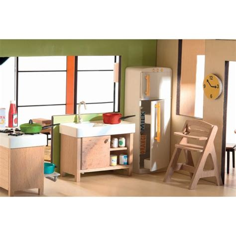 modern doll house furniture djeco petit home doll house kitchen milk tooth