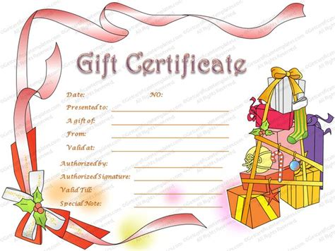 lush printable gift cards gift certificate template beautiful printable gift