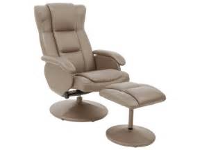 fauteuil relaxation repose pieds jules coloris taupe en