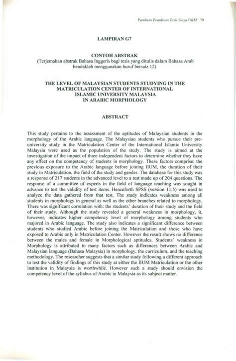 format penulisan abstrak contoh abstrak bahasa melayu cable tos
