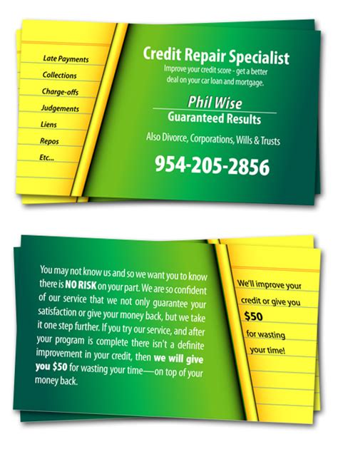 Credit Repair Brochure Templates Cool Business Card Designs By 321pix Ogden Utah