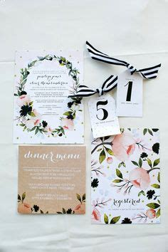 Make these sweet floral wedding invitations using nothing