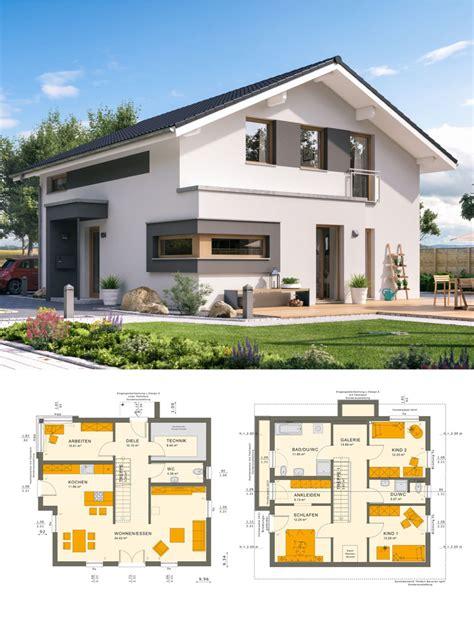 modernes satteldach haus mit galerie einfamilienhaus