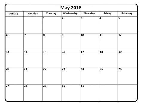 y2 printable schedule may 2018 printable calendar templates