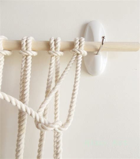 How To Make A Macrame Wall Hanging - diy macrame wall hanging a pair a spare