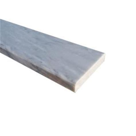 ms international white double bevelled threshold 4 in x 36 in polished marble floor and wall