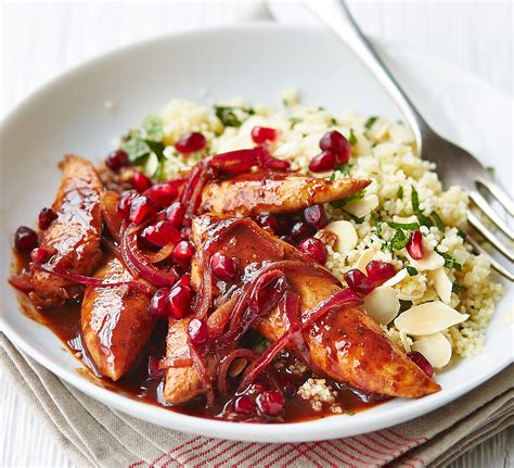 cooking for two easy healthy and tasty recipes for two books pomegranate chicken with almond couscous food