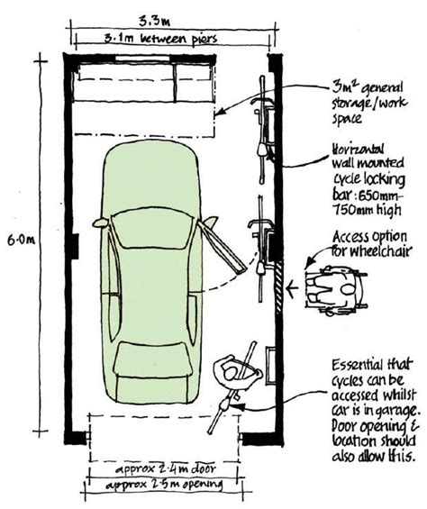 dimensions of single car garage garage length pin by jennifer barbeau on apt build stuff pinterest