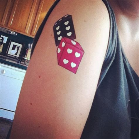 pair of dice tattoo dice tattoos die pictures to pin on tattooskid