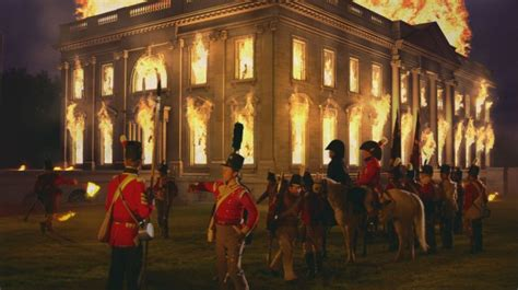 the burning of the white house quot the burning of the white house quot portrayed in quot first invasion the war of 1812 quot