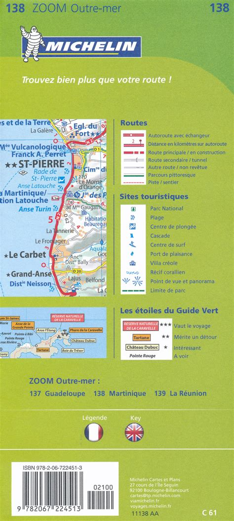 michelin zoom martinique map 138 michelin zoom map books wegenkaart landkaart 138 martinique michelin