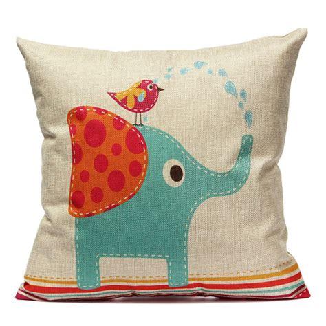 Buy Cartoon Animal Elephant Throw Pillow Case Sofa Cushion Sofa Pillow Cases