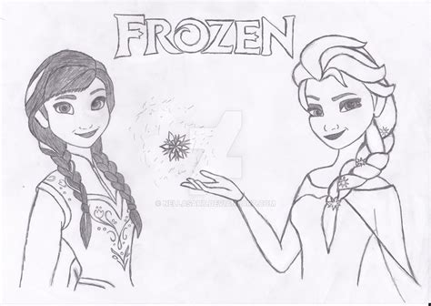 how to draw elsa doodle draw princess and elsa from frozen by nellasart on