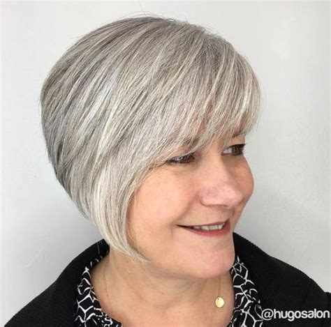 layered bob hairstyles for over 50 front and back view 30 modern haircuts for women over 50 with extra zing