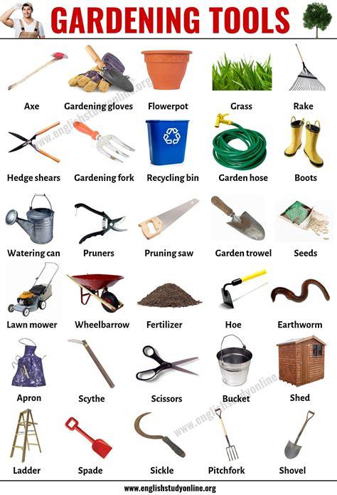 gardening tools list    tools names