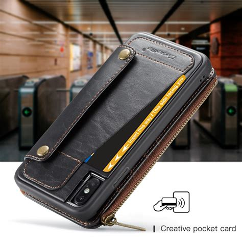 caseme 011 detachable multifunctional horizontal flip leather for iphone xs max with card