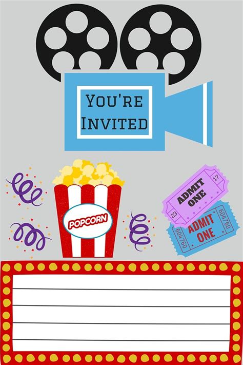 free printable movie tickets invitations free printables free printables movie and free