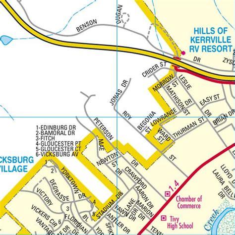 map of kerrville texas kerrcofcmappage23